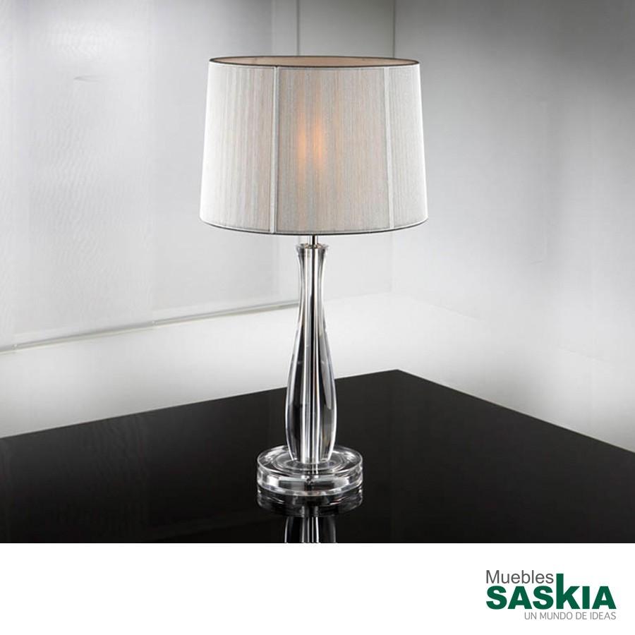 Lámpara de sobremesa  lin transparente. C/p