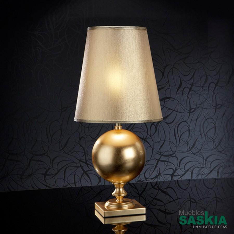 Lámpara de sobremesa terra ac. Pan oro