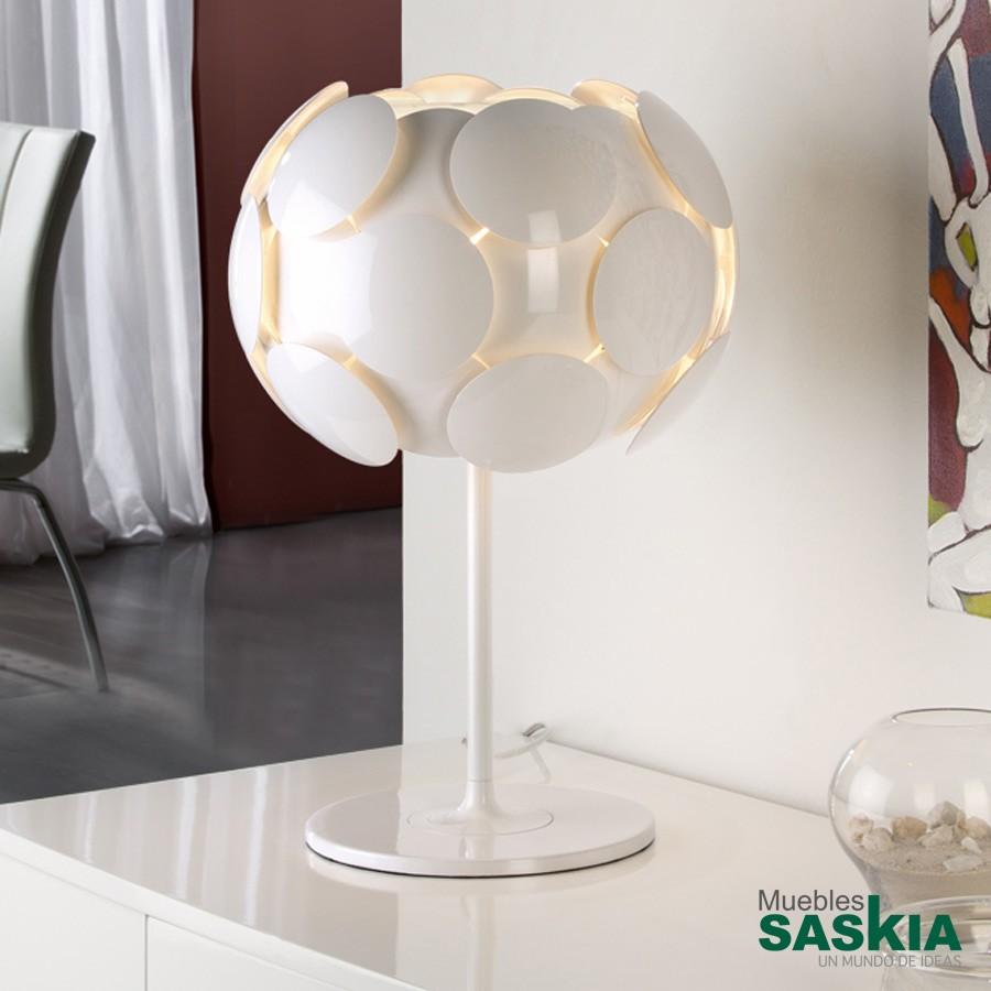 Lámpara de sobremesa egea blanco diámetro 31