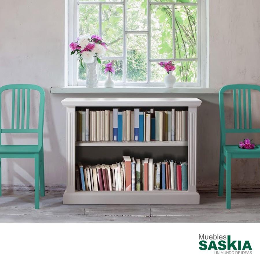 Librería clásica en color blanco
