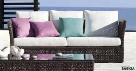 Sofa Keanu Cobalt tapicería única+Cuadrantes