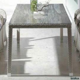 Mesa comedor Paradise Roca 200 X 90 con cristal
