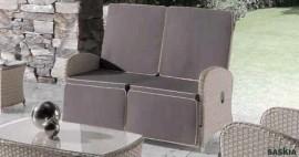 Sofa 2 plazas. Relax Paradise Roca tapicería única