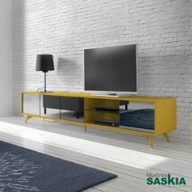 Mueble tv-1403F-MOSTAZA