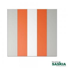 Armario moderno Blanco/humo/mandariona puerta batientes