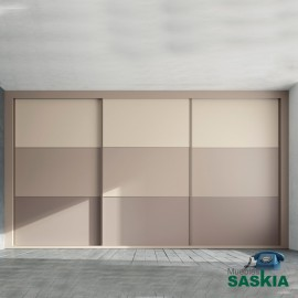 Armario moderno arena/angora/tórtora con puerta correderas