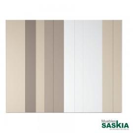 Armario moderno blanco/arena/tórtora/angora con puerta batientes