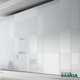 Armario moderno blanco/blanco brillo con puerta batientes