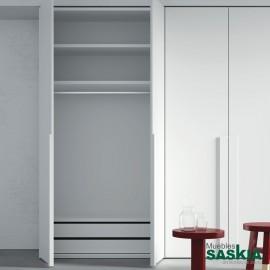 Armario moderno blanco 02 puerta batiente -3