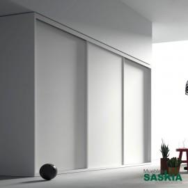 Armario moderno blanco 02 puerta corredera