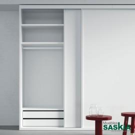 Armario moderno blanco 02 puerta corredera -1