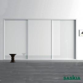 Armario moderno blanco brillo 15 puerta correderas