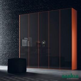 Armario moderno mandariona/vulcano brillo puerta batientes