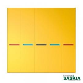 Armario moderno mostaza 06 puerta batiente