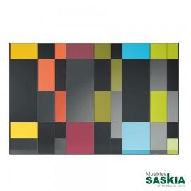 Armario moderno ocho colores con puerta batientes