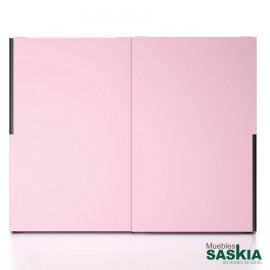 Armario moderno rosa con puertas correderas