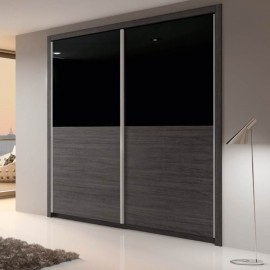 Armario 5660 vidrio negro