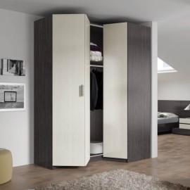 Armarios y vestidores dormitorio muebles saskia en pamplona - Armarios empotrados esquineros ...