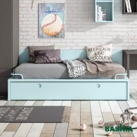 Cama moderna, dormitorio juvenil