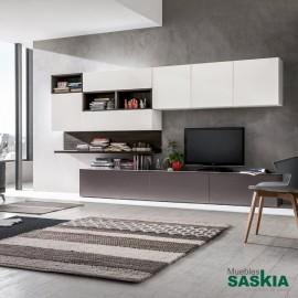 Muebles de contraste claro-oscuro, moderno