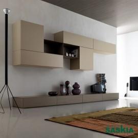 Composición de mueble sencillo para salón