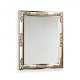 Espejo Flor plata
