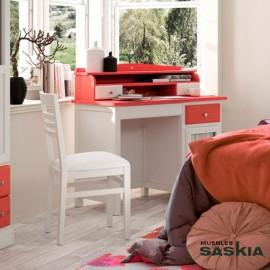 Mesa escritorio de 4 cajones Oria con altillo