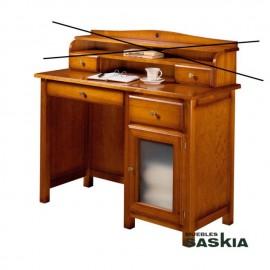 Mesa escritorio puerta visillo y cajón Oria sin altillo