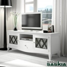 Mesa de tv de 165 puerta madera basilea