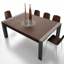 Mesa de comedor Double Walnut extensible