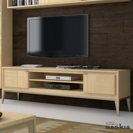 Mueble tv 2 puertas moldura con pie tacón