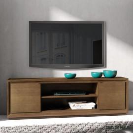 Mueble tv 2 puertas lisas con pie zócalo