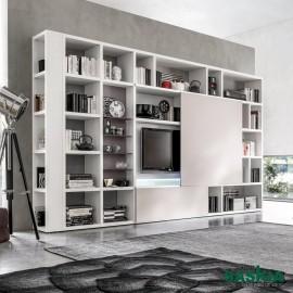 Mueble de tv y librería, combinación