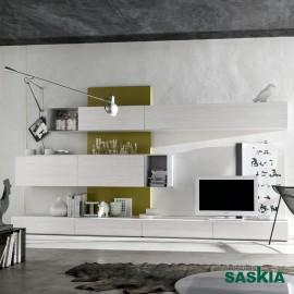 Salón moderno, blanco