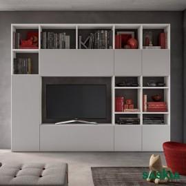 Salón moderno organizado