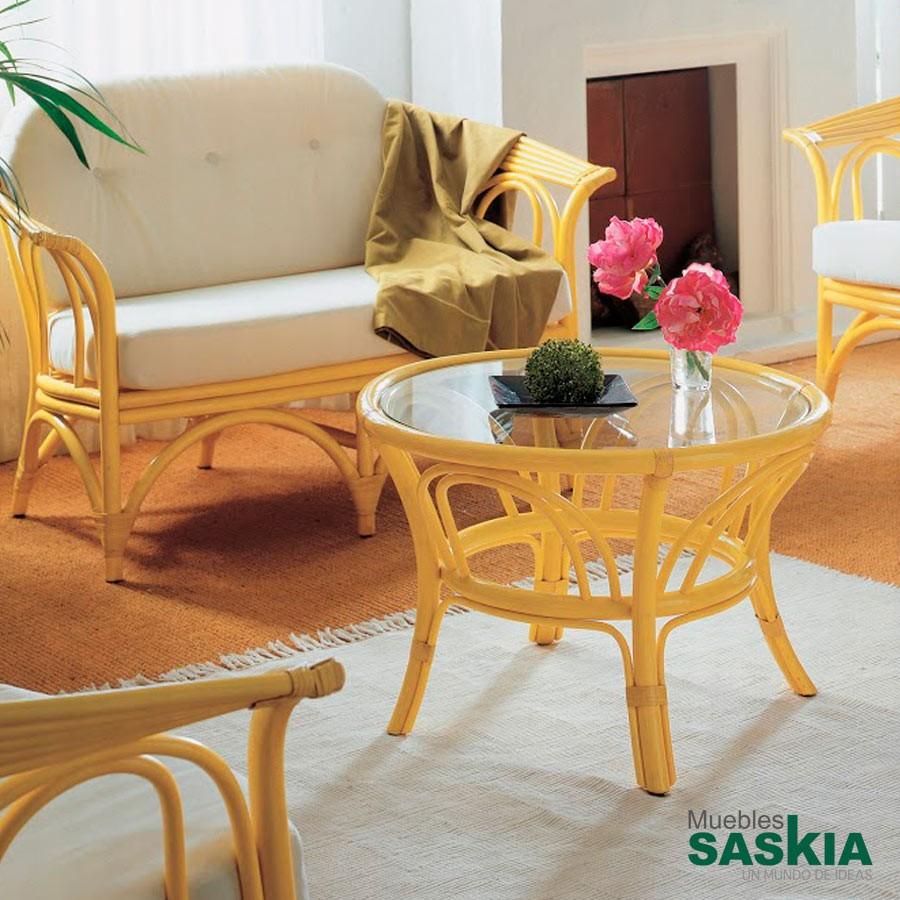Mesa de centro amarilla fabricada en ratt n gobernadora 472 4 rattan muebles saskia en pamplona - Mesas de rattan ...