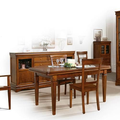 Mesa comedor extensible 3639 muebles saskia en pamplona for Mesa comedor clasica