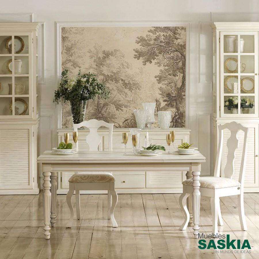 Mesa rectangular extensible, estilo clásico
