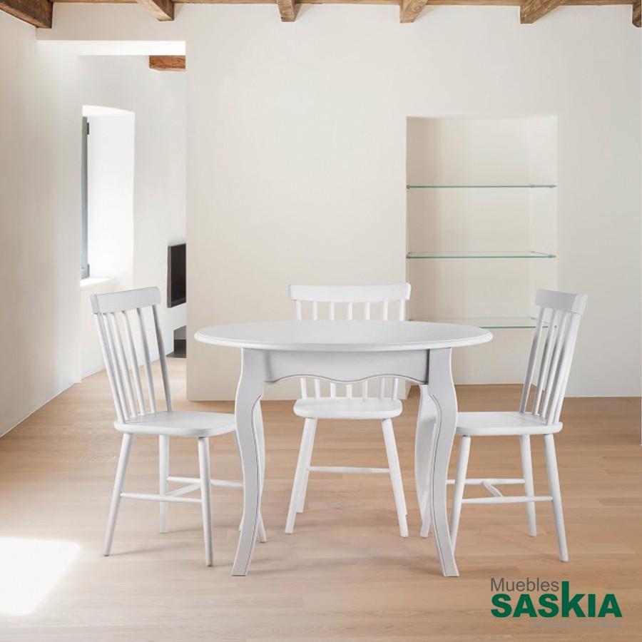 Mesa redonda extensible (abierta 76 x 100 x 125)