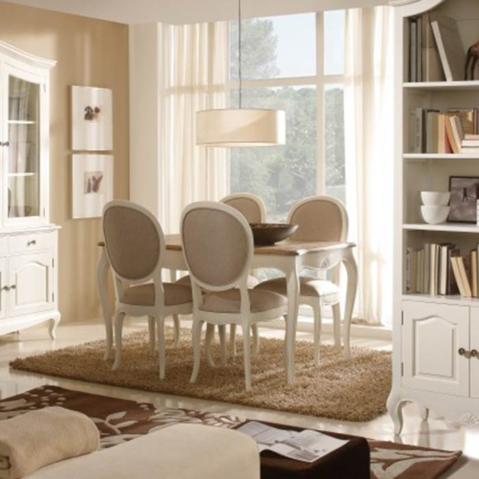Mesa de comedor par s 940942 muebles saskia en pamplona for Muebles estilo isabelino moderno
