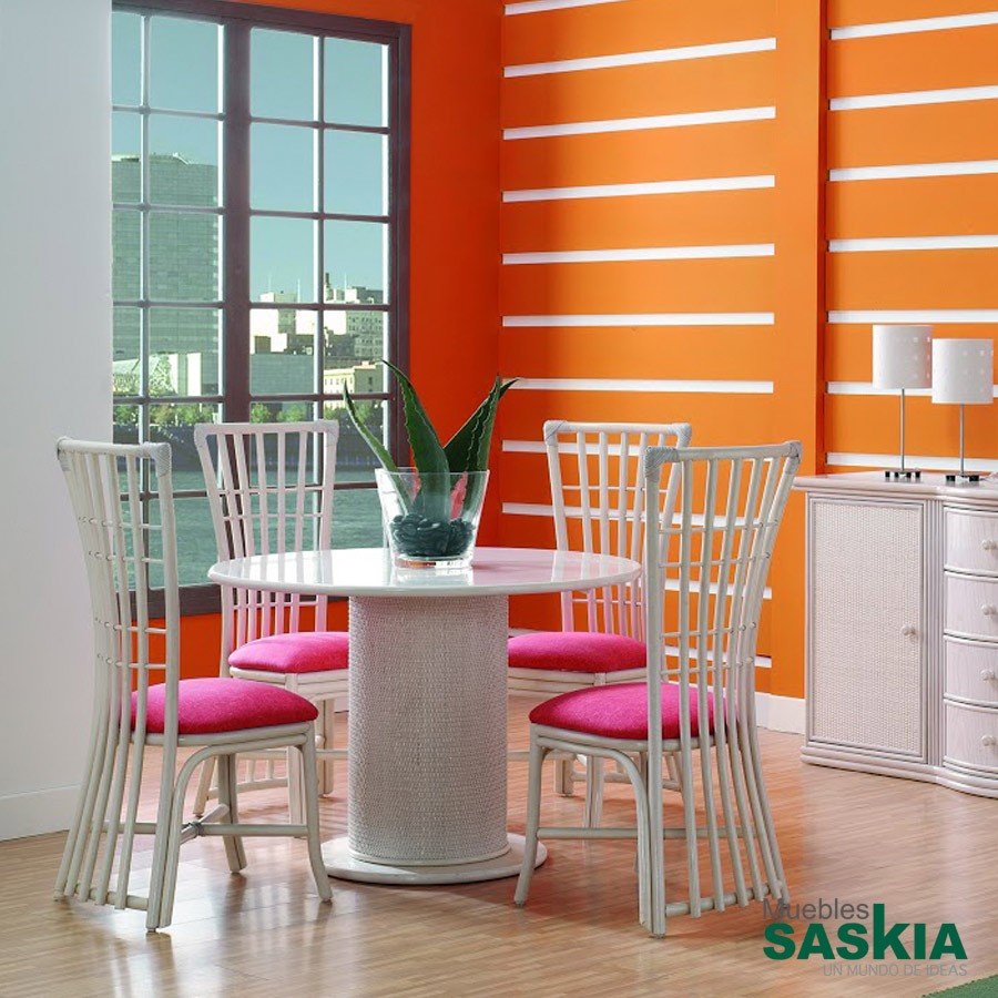 Mesa redonda fija fabricada en ratt n gobernadora 560 1 rattan muebles saskia en pamplona - Muebles en pamplona ...