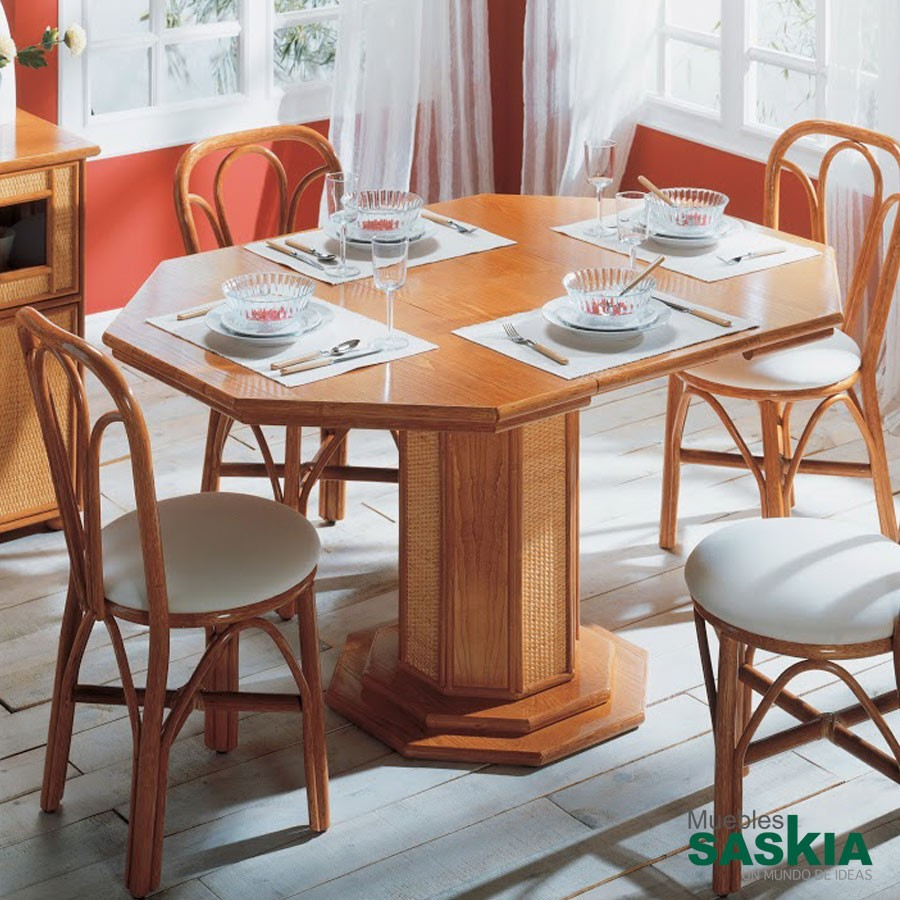 Mesa octogonal extensible gobernadora 049 1 rattan muebles saskia en pamplona - Muebles en pamplona ...