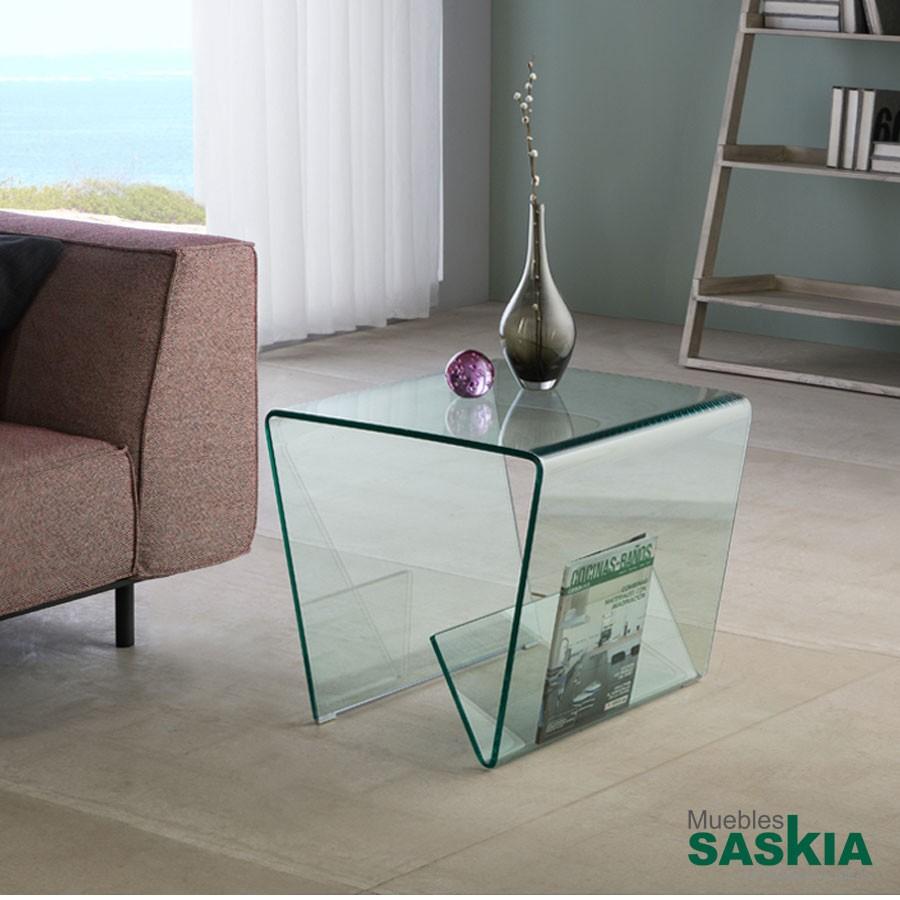 Mesa auxiliar glass iii