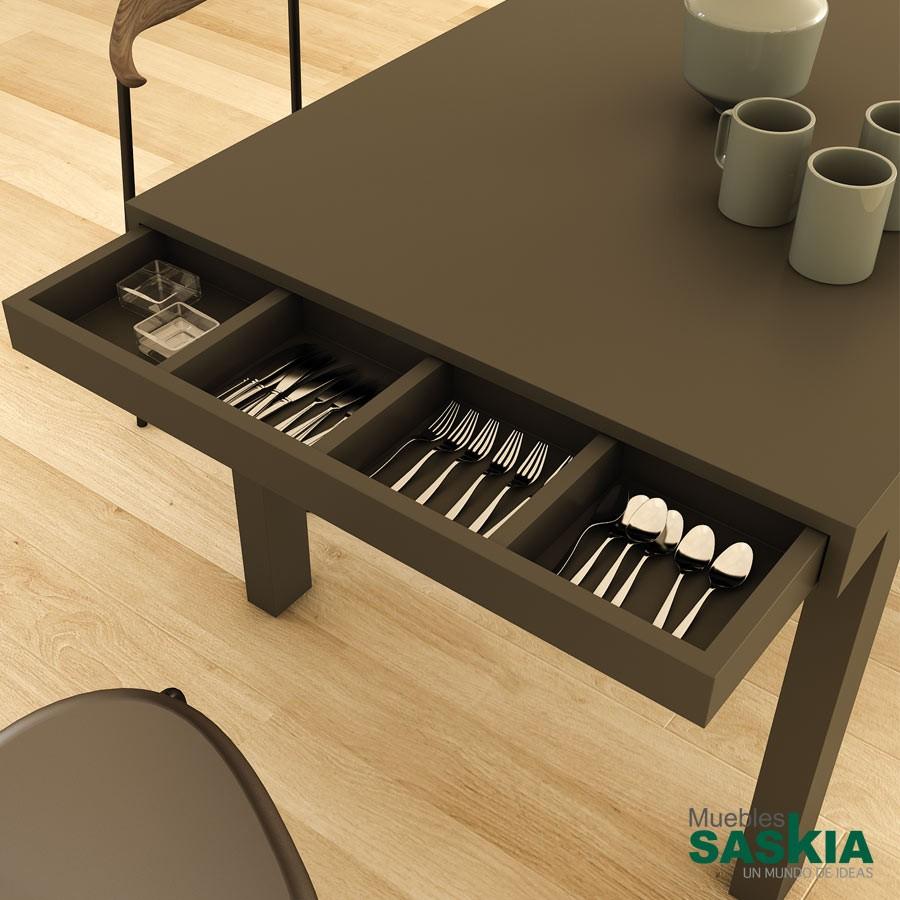 Mesa de comedor con caj n cubertero palermo cm plr 01 8 for Mesas de comedor ofertas