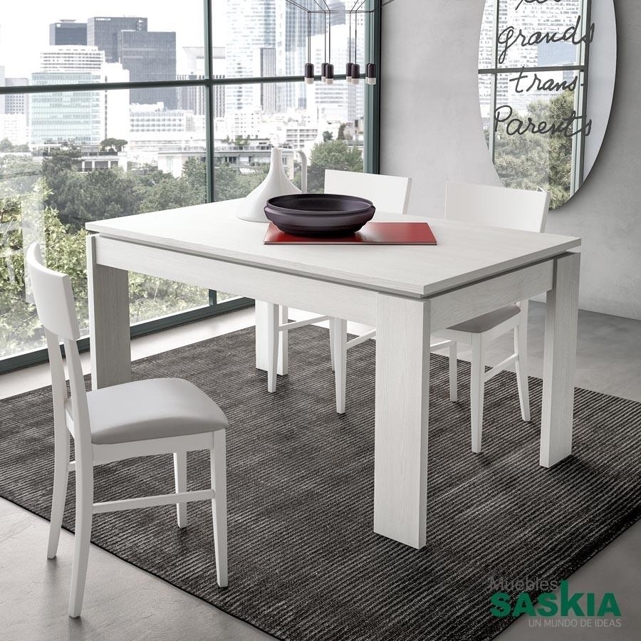 Mesas de comedor comedor muebles saskia en pamplona for Mesas comedor extensibles modernas
