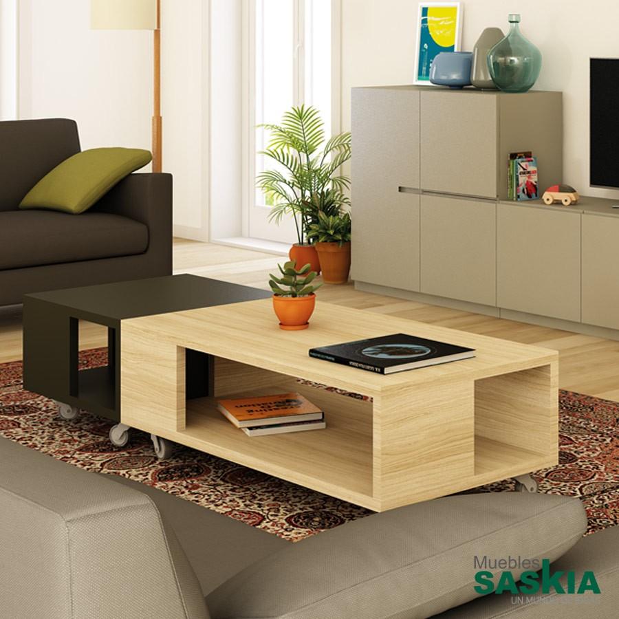 Mesas de centro sal n muebles saskia en pamplona for Mesas para salon