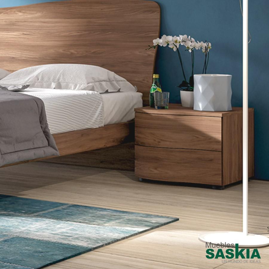 Mesita con dos cajones moderna cmd 804 muebles saskia en - Mesita de noche moderna ...