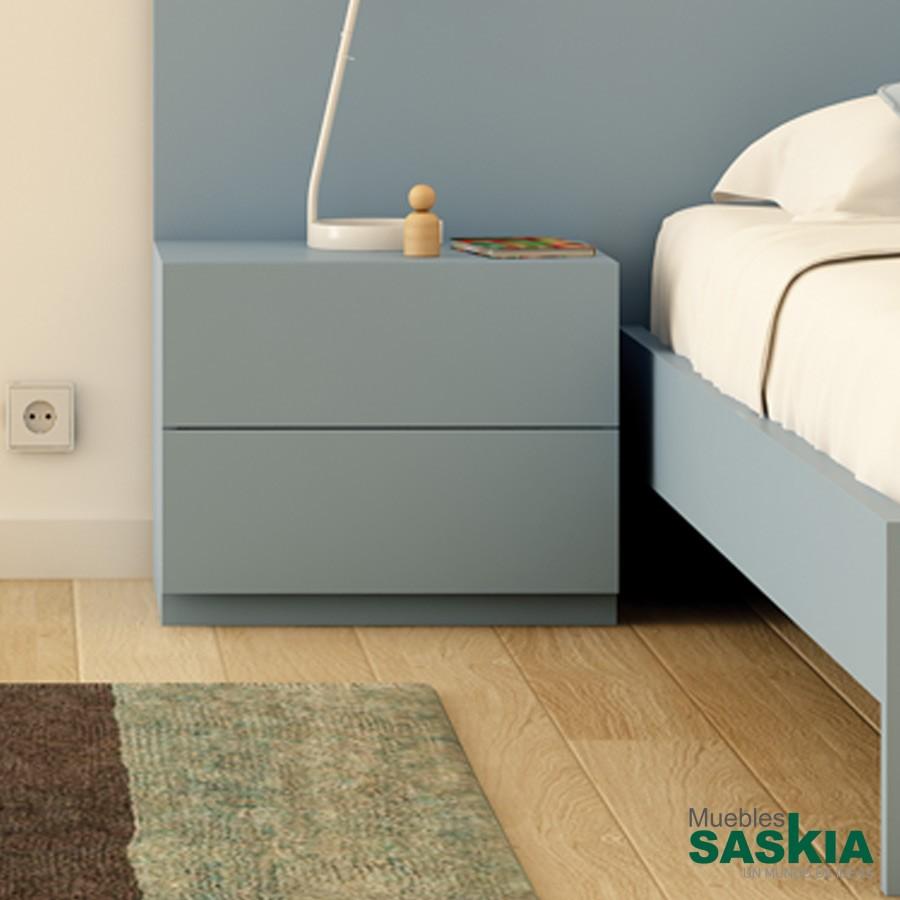 Mesitas de noche dormitorio muebles saskia en pamplona - Mesita de noche moderna ...