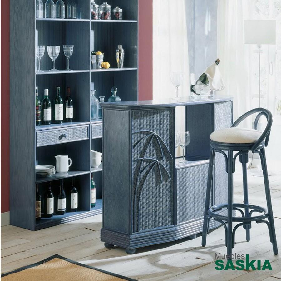 Mueble bar fabricado en rattán de alta calidad