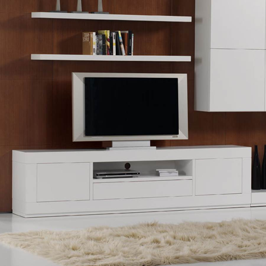 Mueble tv contempor neo 27p 2627 p muebles saskia en for Mueble de pared industrial